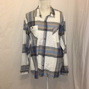 🆕 Levi's Button Down Flannel Plaid Shirt Cowboy